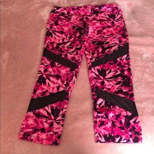 Hot pink printed yours pants/leggings w/ mesh XL